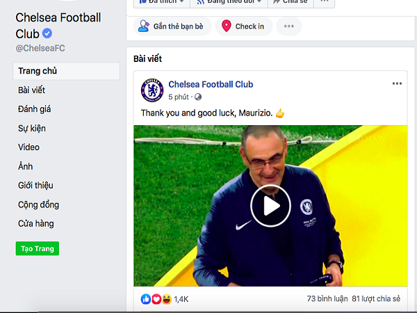 HLV Sarri chính thức rời Chelsea, ký hợp đồng 3 năm với Juventus