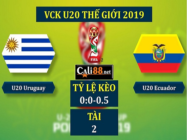 Nhận định U20 Uruguay vs U20 Ecuador, 22h30 ngày 3/06