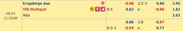 Nhận định Aue vs Stuttgart