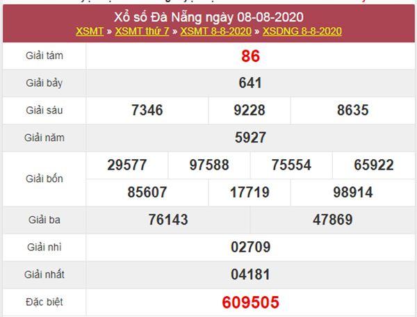 Dự đoán XSDNG 12/8/2020 chốt KQXS Đà Nẵng thứ 4
