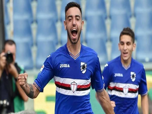 Bruno Fernandes trong màu áo Sampdoria