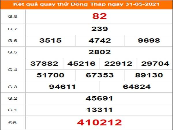 Quay thử Đồng Tháp ngày 31/5/2021 thứ 2