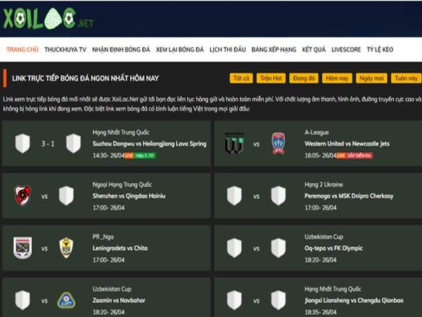 Xoilac.net - xem bóng đá trực tiếp